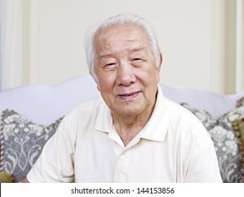 portrait of an asian senior man.