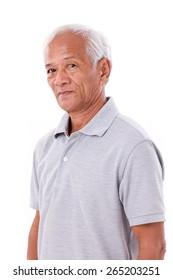 portrait of asian senior old man