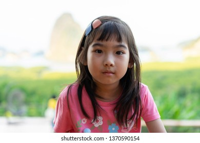 Portrait Asian Thailand kids little girl