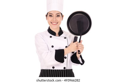 Portrait of asian woman chef