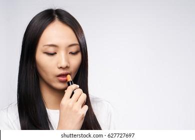 Portrait of asian woman makeup