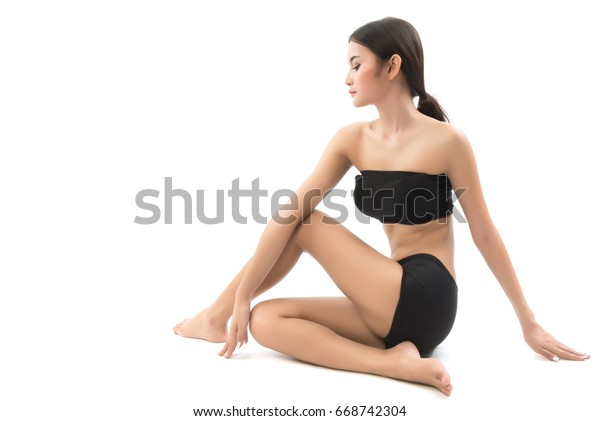 free form yoga  Portrait Asian Woman Play Yoga Over Stock Photo (Edit Now ...
