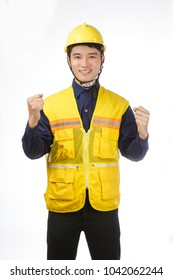Portrait of a asian young man confident engineer