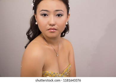 Portrait of the Asian young woman