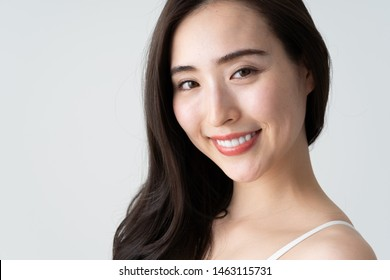 portrait of attractive asian woman beauty image