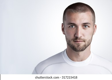 Portrait of an attractive athlete