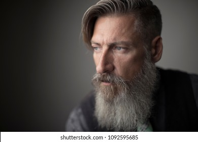 Portrait of an attractive bearded man