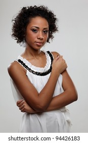 Portrait of an attractive black woman