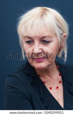 An attractive mature blonde