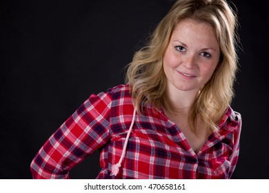 Portrait of an attractive blonde woman