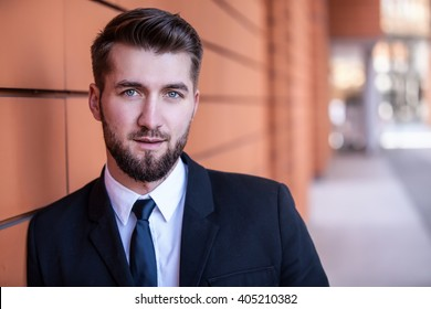 Portrait of an attractive business man