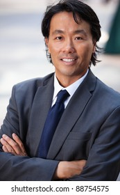Portrait of an attractive businessman smiling