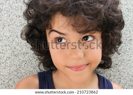 Portrait Attractive Child Curly Hair Stock Photo Edit Now