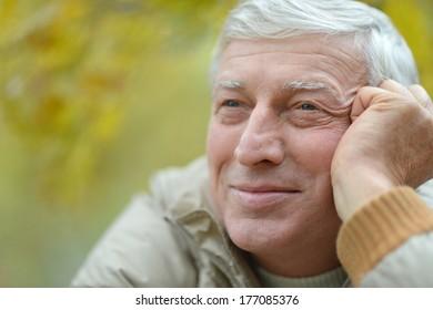 Portrait of attractive elderly man