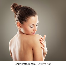 Portrait of attractive female .Body care and beauty concept.
