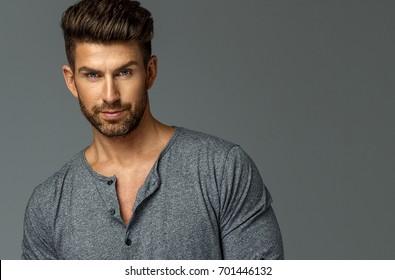 Portrait of attractive male model