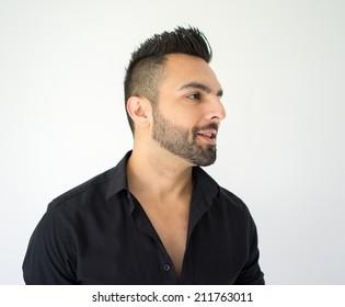 Portrait of attractive man standing