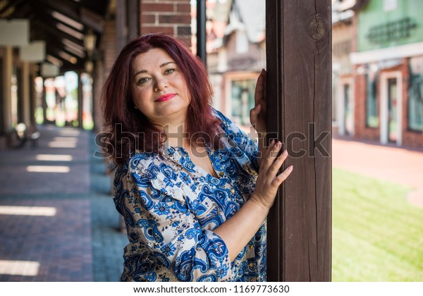 Portrait Attractive Plus Size Mature Woman Stock Photo (Edit ...