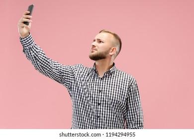 Attractive guy selfies