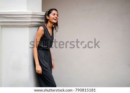 Portrait Attractive Stylish Young Indian Asian Stock Photo