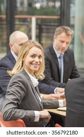 Portrait of attrative business woman
