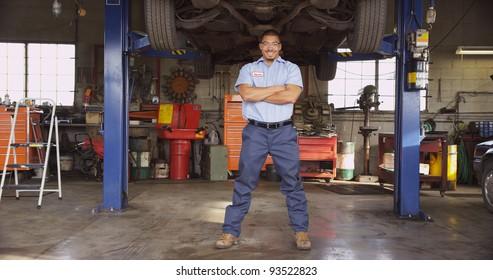 Portrait of auto shop mechanic