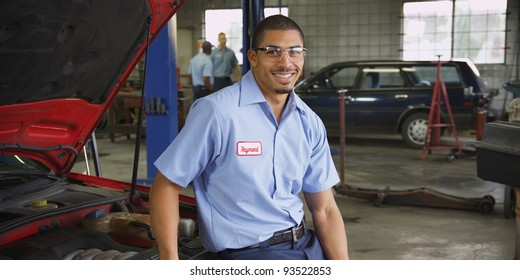 Portrait of auto shop mechanic