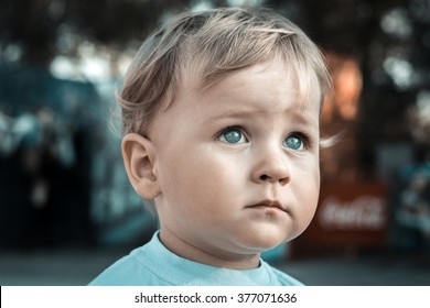 Portrait of a baby in the park