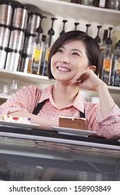 Portrait of barista in coffee shop
