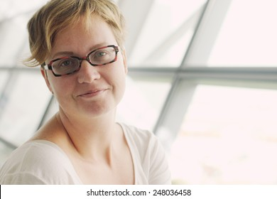 Portrait of beautiful 35 years old woman