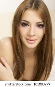 portrait of a beautiful adult sensuality woman