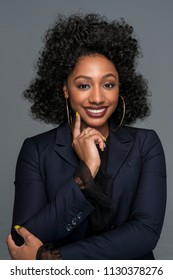 Portrait of a beautiful african american businesswoman