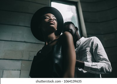 Portrait of a beautiful African American couple.