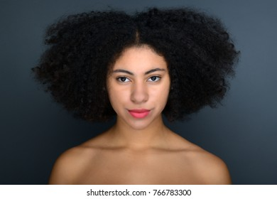 Portrait of beautiful afro american woman