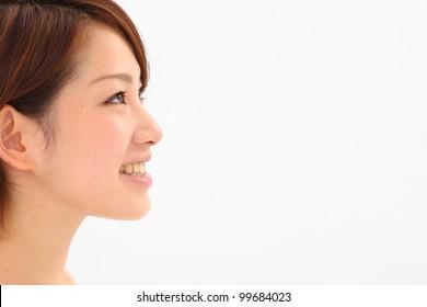 a portrait of beautiful asian woman