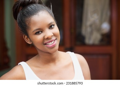 Portrait of a beautiful attractive girl