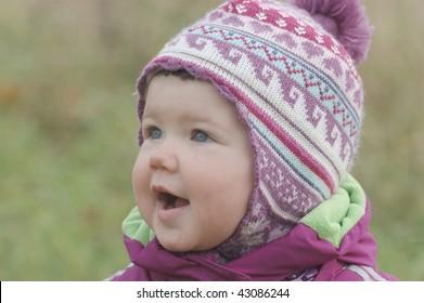 Portrait of beautiful baby girl