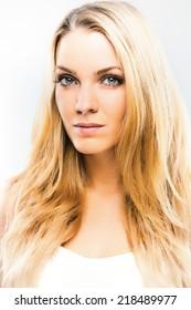 Portrait of a beautiful blond girl