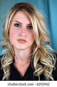Portrait of a beautiful blond model