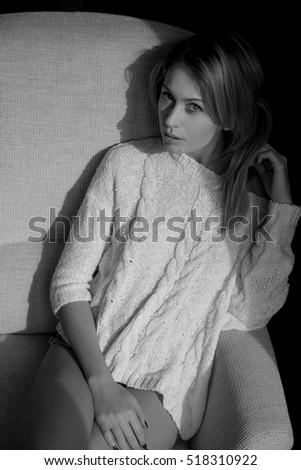 423548ea0 Portrait Beautiful Blonde Woman Fashion Style Stock Photo (Edit Now ...