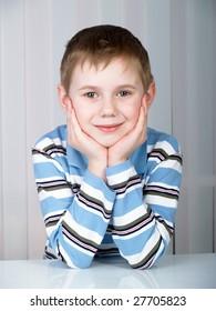 Portrait of the beautiful boy