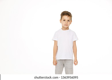 portrait of a beautiful boy isolated on white background