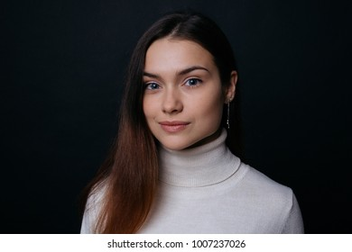 Portrait of a beautiful brunette girl