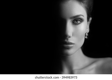 portrait of a beautiful brunette young woman