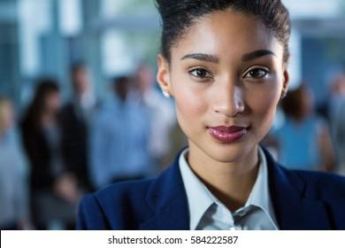 Portrait of beautiful businesswoman in office