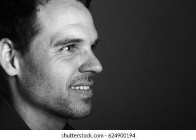 Portrait of a beautiful caucasian man
