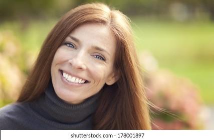 Portrait of a beautiful Caucasian woman outdoor