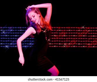 portrait of a beautiful dancing girl