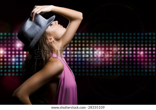 Portrait of a beautiful dancing girl. See more dancing girls (High resolution) in my Portfolio.