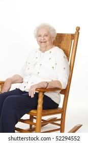Portrait of a beautiful elderly Caucasian woman